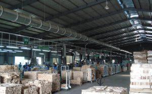 hút bụi cho dây chuyền sản xuất ván sàn